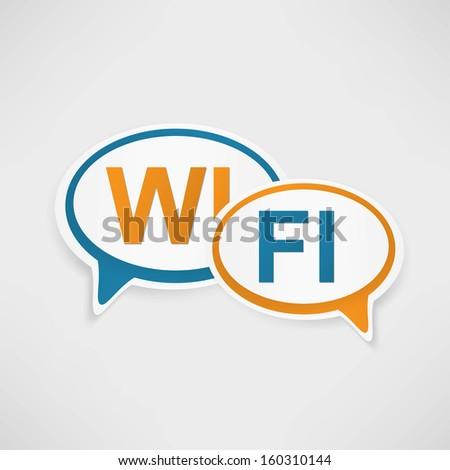 WiFi Zone speech bubbles - stock photo