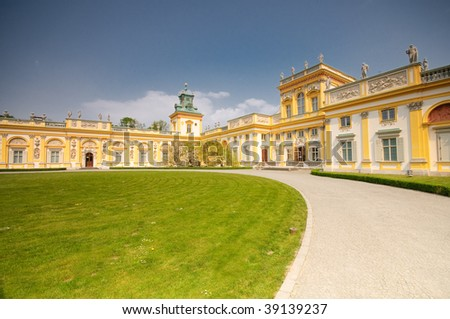 Wilanow Palace and Park in Warsaw Poland