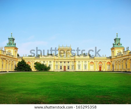 Wilanow palace in Warsaw city in Poland