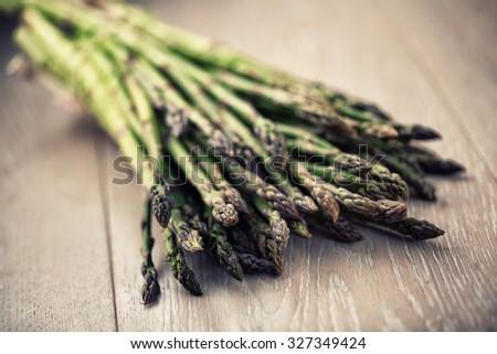 Wild Asparagus - stock photo