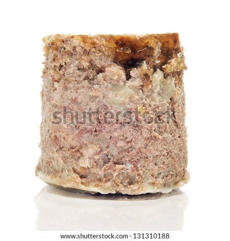 wild boar pate on a white background