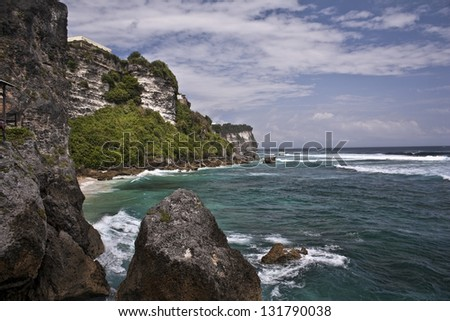 Wild coast in the North of Crete � Bali - stock photo