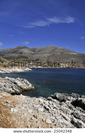 Wild coast with mountains and rocks