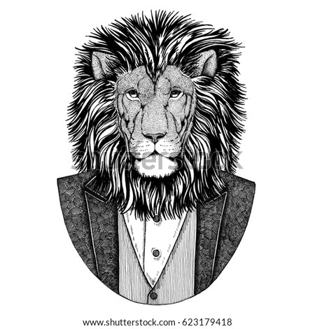 Lion hipster - photo#41