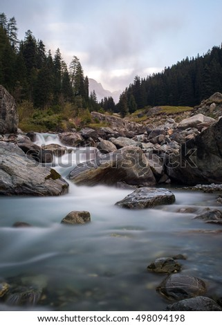Wild river in the swiss alps â?? long exposure