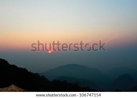 Wild untouched nature mountains - stock photo