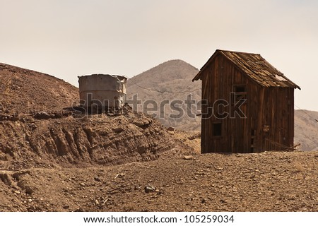 Wild West Shack in a ghost town - stock photo