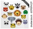 Wildlife Animal Cute Cartoon - stock vector