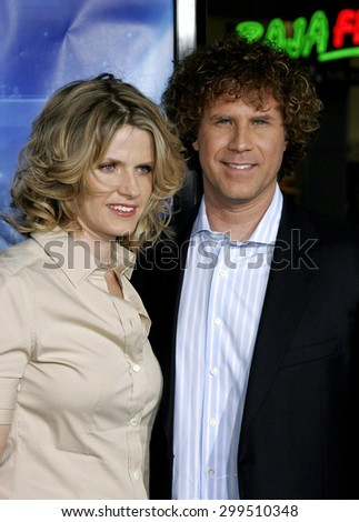 """Will Ferrell and Viveca Paulin attend the Los Angeles Premiere of """"Blades of Glory"""" held at the Mann's Chinese Theater in Hollywood, California on March 28, 2007.   - stock photo"""