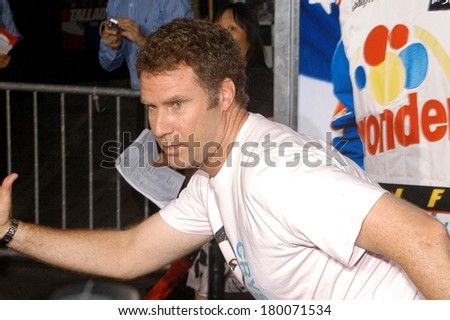 Will Ferrell at Premiere of TALLADEGA NIGHTS THE BALLAD OF RICKY BOBBY, Grauman's Chinese Theatre, Hollywood, CA, July 26, 2006 - stock photo