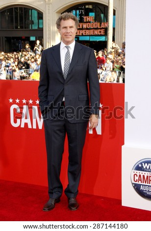 """Will Ferrell at the Los Angeles premiere of 'Campaign"""" held at the Grauman's Chinese Theater in Hollywood on August 2, 2012.  - stock photo"""