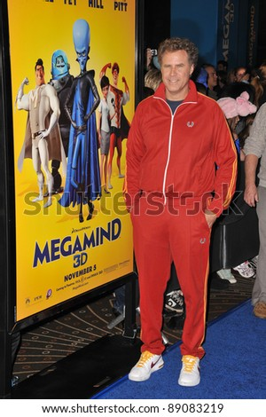 "Will Ferrell at the Los Angeles premiere of his new movie ""MegaMind"" at Mann's Chinese Theatre, Hollywood. October 30, 2010  Los Angeles, CA Picture: Paul Smith / Featureflash - stock photo"