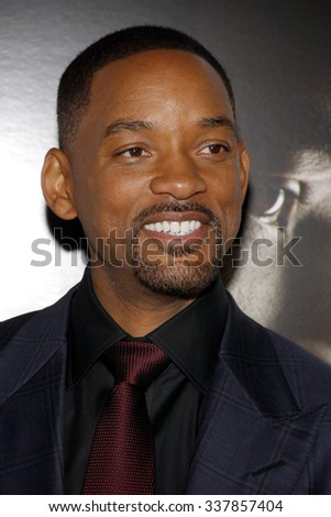 "Will Smith at the AFI FEST 2015 Centerpiece Gala Premiere Of Columbia Pictures' ""Concussion"" held at the TCL Chinese Theatre in Hollywood, USA on November 10, 2015."