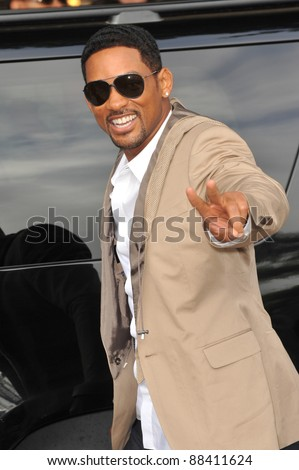 """Will Smith at the Los Angeles premiere of his son Jaden's new movie """"The Karate Kid"""" at Mann Village Theatre, Westwood. June 7, 2010  Los Angeles, CA Picture: Paul Smith / Featureflash - stock photo"""