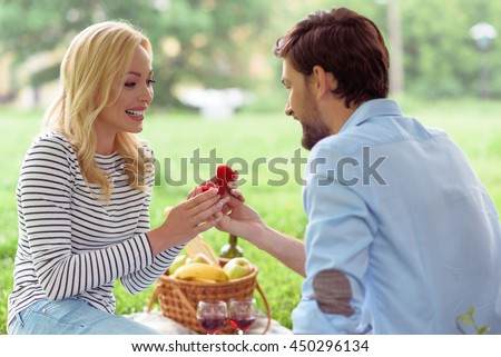 Will you marry me - stock photo