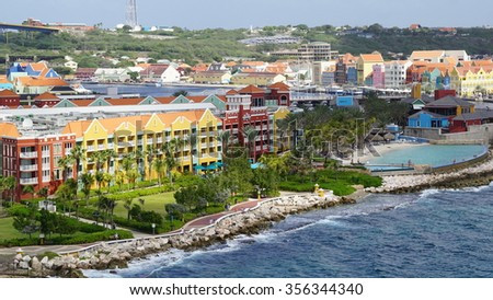 WILLEMSTAD, CURACAO - NOV 25: Rif Fort in Willemstad, Curacao, as seen on Nov 25, 2015. The fort was originally constructed to protect the island's precious harbor.