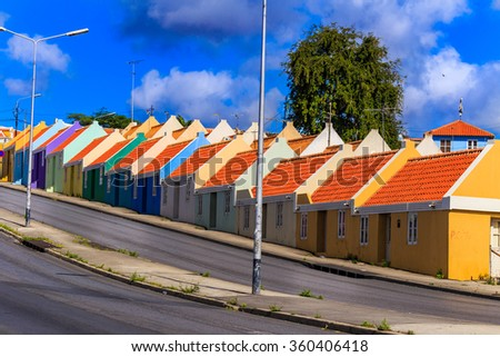 Willemstad on Curacao - stock photo