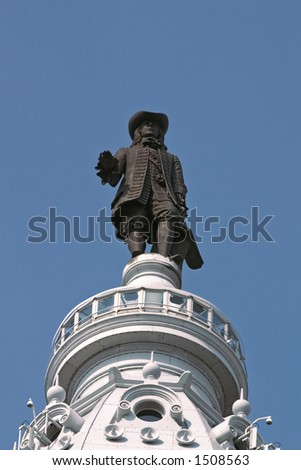 William Penn Statue, Facing Front, Centered