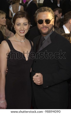 WILLIAM PETERSEN & wife at the 61st Annual Golden Globe Awards at the Beverly Hilton Hotel, Beverly Hills, CA. January 25, 2004 - stock photo