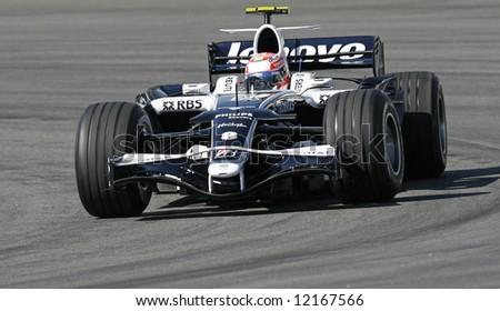 William's Japanese F1 driver Kazuki Nakajima - stock photo