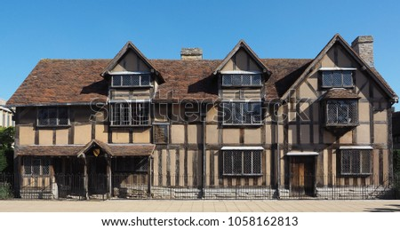 William Shakespeare Birthplace In Stratford Upon Avon UK