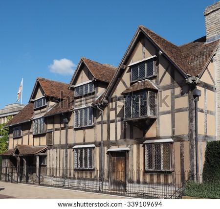 William Shakespeare birthplace in Stratford Upon Avon, UK - stock photo