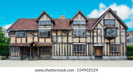 William Shakespeare house - stock photo