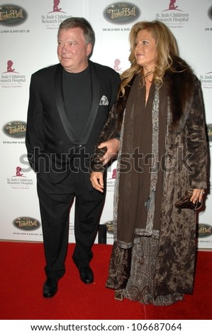 William Shatner and wife Elizabeth  at the 5th Annual Runway For Life Gala Benefitting St. Jude Childrens Hostpital. Beverly Hilton Hotel, Beverly Hills, CA. 10-11-08 - stock photo