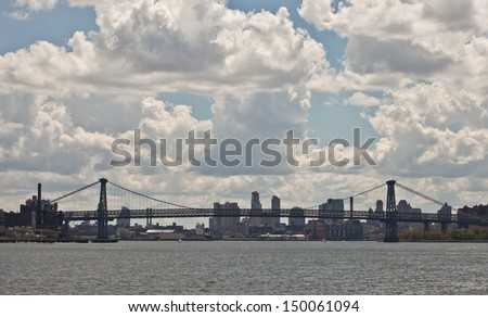 Williamsburg Bridge in New York City - stock photo