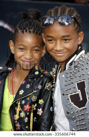 """Willow Smith and Jaden Smith at """"The Twilight Saga: Eclipse"""" Los Angeles Premiere held at the Nokia Live Theater in Los Angeles, California, United States on June 24, 2010.   - stock photo"""