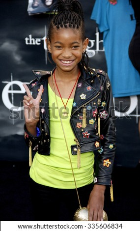 """Willow Smith at """"The Twilight Saga: Eclipse"""" Los Angeles Premiere held at the Nokia Live Theater in Los Angeles, California, United States on June 24, 2010.   - stock photo"""