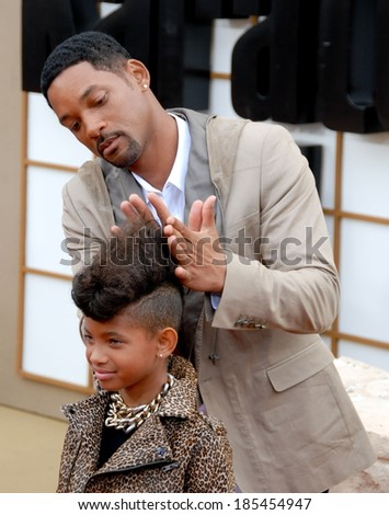 Willow Smith, Will Smith at THE KARATE KID Premiere, Mann Village Theatre, Los Angeles, CA June 7, 2010