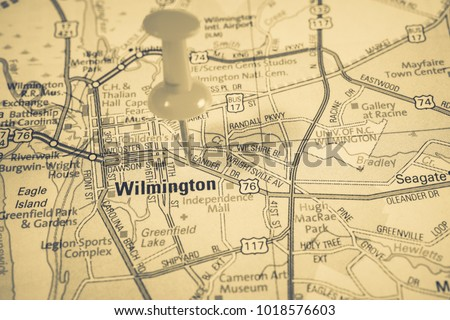 Wilmington on map