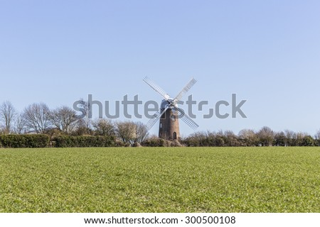 Wilton Windmill, Wilton, Wiltshire, Southern England, UK.  The restored windmill is a popular tourist attraction as well as a prominent feature of the local skyline