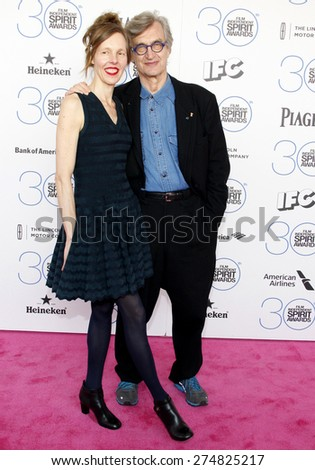 Wim Wenders and Donata Wenders at the 2015 Film Independent Spirit Awards held at the Santa Monica Beach in Santa Monica on February 21, 2015.