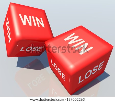 win lose dice - 3d reflection