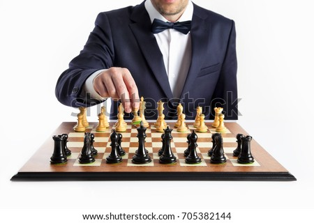 Win or lose strategy. Chess game