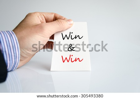 Win text concept isolated over white background - stock photo