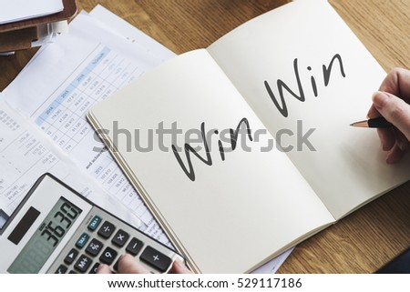 Win Win Situation Agreement Fair Trade Stock Photo Royalty Free