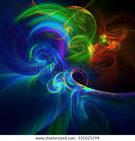 Wind abstract illustration - stock photo
