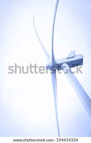 Wind energy. Electricity generating windmill. - stock photo