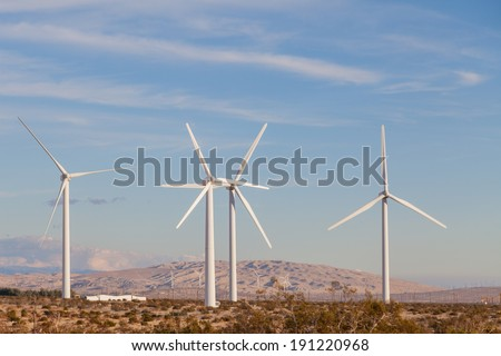 Wind Energy Farm, Palm Springs California
