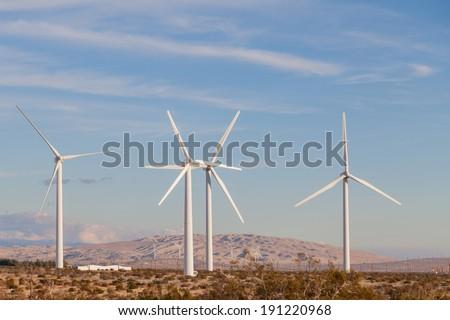 Wind Energy Farm, Palm Springs California - stock photo
