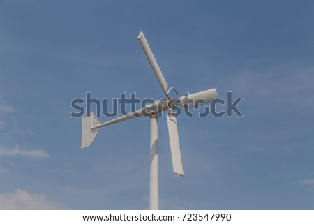 Wind energy is a natural energy that can be utilized.