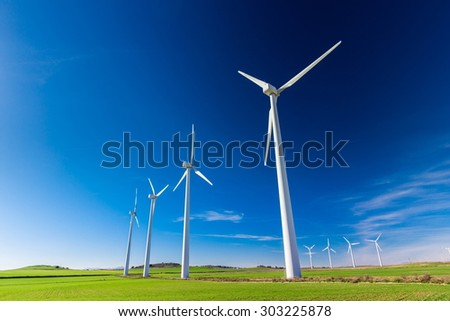 wind farm for a sustainable future - stock photo