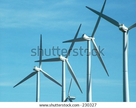 Wind Farm in Tehachipi, California - stock photo