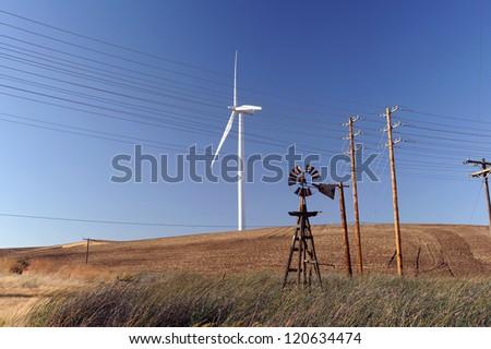 wind generator - stock photo