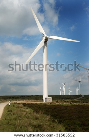 Wind generator on the Yorkshire moors.