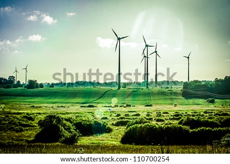 Wind Generators, Ecology - stock photo