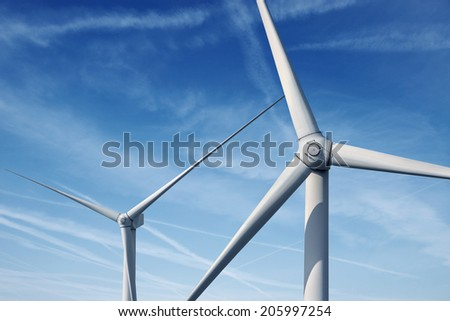 Wind generators turbines - stock photo
